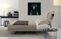 Elegant Europe Style King Size Bed Fabric Bed Bedroom Furniture For Sale
