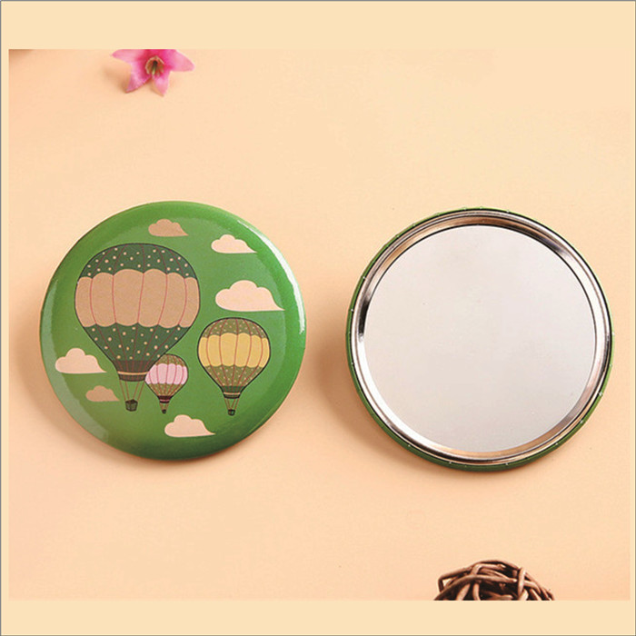promotional gifts tin girl makeup pocket mirror