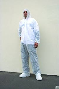 Disposable Coverall W/ Attached Hood & Boot Large [25 Pieces] - Product Description - Disposable Coverall W/Attached Hood And Boot Large. Polypropylene Spun Bond. Latex Free Elastic Wrist And Ankle. Zipper Front. Size: Large. Heavy Weight. ...