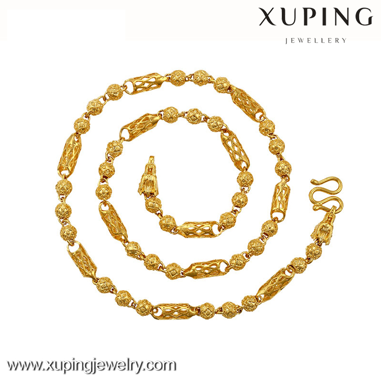 xuping jewelry 24k gold cheap fashion necklace, dubai selling a large number of wholesale and chain