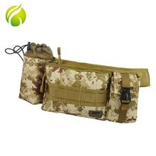 China factory small outdoor military tactical bag multi function hiking waist pack