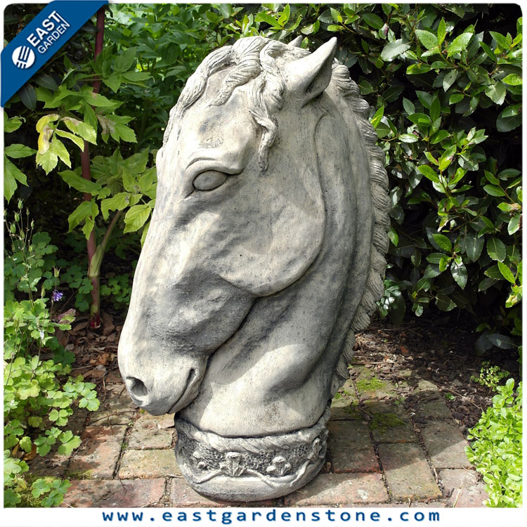 Chinese natural stone sculpture sculpture life size horse sculpture