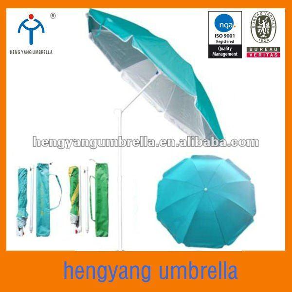 Diameter 180cm Silver Coating Folding Beach Umbrella View Hengyang Product Details From Zhejiang Co