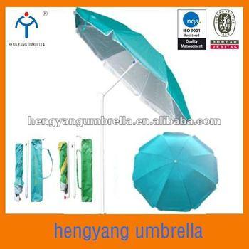 Diameter 180cm Silver Coating Folding Beach Umbrella