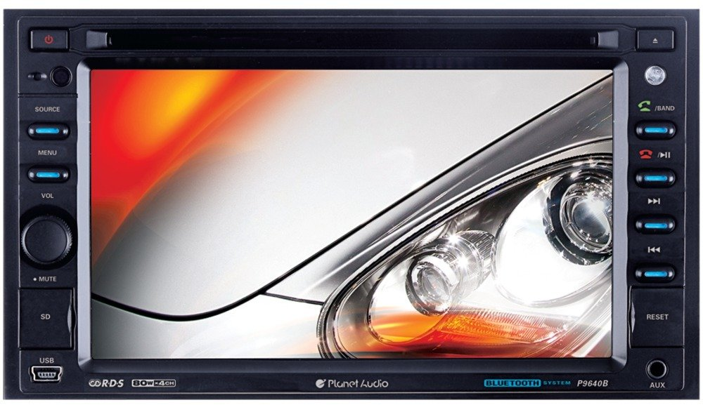 """6.2"""" Double-Din In-Dash Slide-Down Touchscreen Dvd Receiver With Bluetooth *** Product Description: 6.2"""" Double-Din In-Dash Slide-Down Touchscreen Dvd Receiver With Bluetooththe Planet Audio P9640B Is The Solution To Your Mobile Multimedia Needs. ***"""