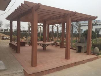 Houten pergola tuinhuisje plastic dak tuinhuisjes waterdichte