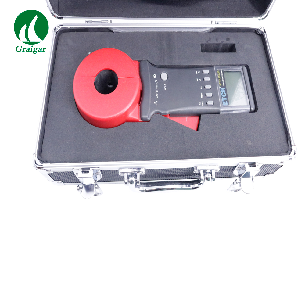 ETCR2100E+ Ground Tester Clamp Earth Resistance Tester Range 0.01-1200OHM