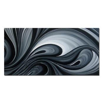 Mais Novo Estilo Abstrato Moderno Pintura A óleo Preto E Branco Para A Decoração Da Casa Buy Pintura A óleo Preto Brancopintura A óleo Abstrata