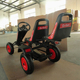 CE certification and pedal go kart type pedal car 2 seat