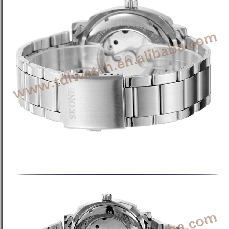 S80016 luxury stainless steel mechanical watches men