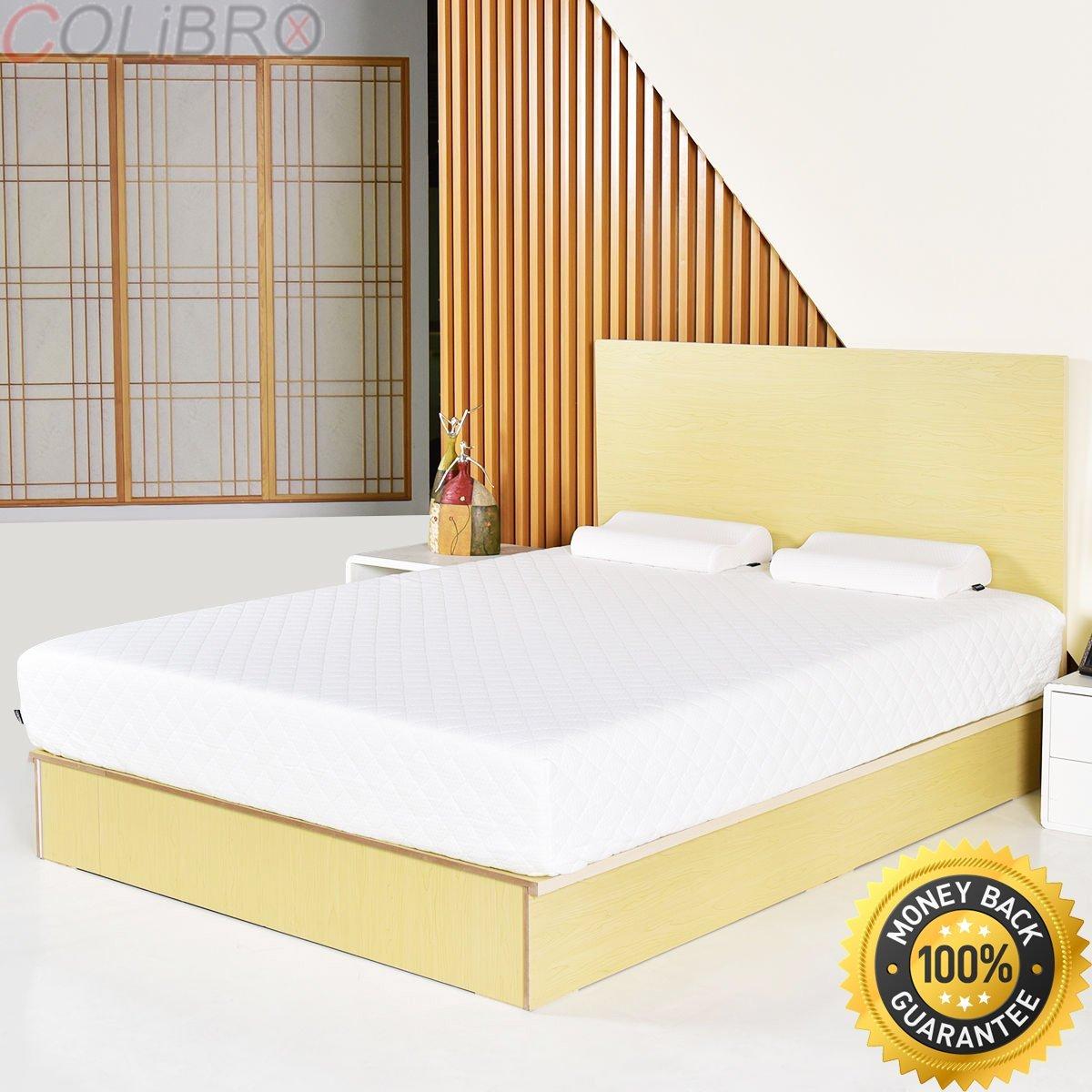Colibrox Queen Size 12 Inch Memory Foam Mattress Sofa Bed W 2 Contoured