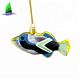 Hand-made Christmas Blown Glass Hanging Ornament - Assorted Tropical Angelfish
