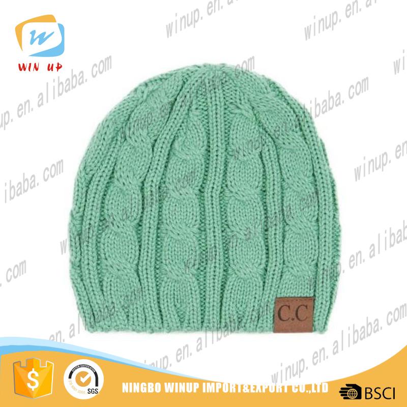 Wholesale Plain Cc Beanie Hat Winter Kinted Warm Hat