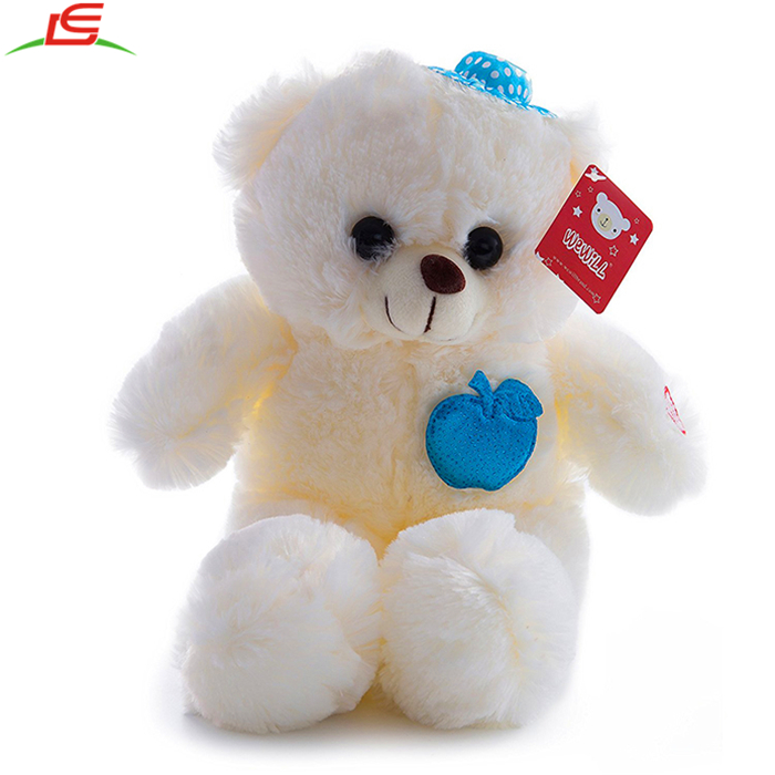 Adorable Colorful Flash LED Light up Glow Stuffed Teddy Bear Gifts for Children's Day