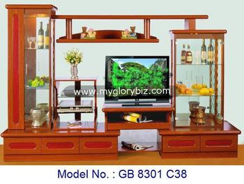 Mdf tv cabinet for home living furniture tv cabinet with for Armoire salon design