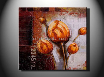 Single Panel Canvas Flower Oil Painting For Home Decoration