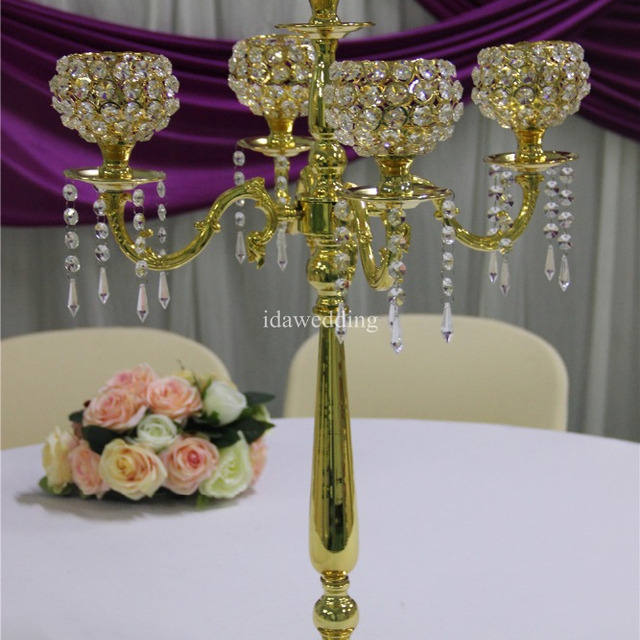 Whole Wedding Black Candelabra Table Top For Center