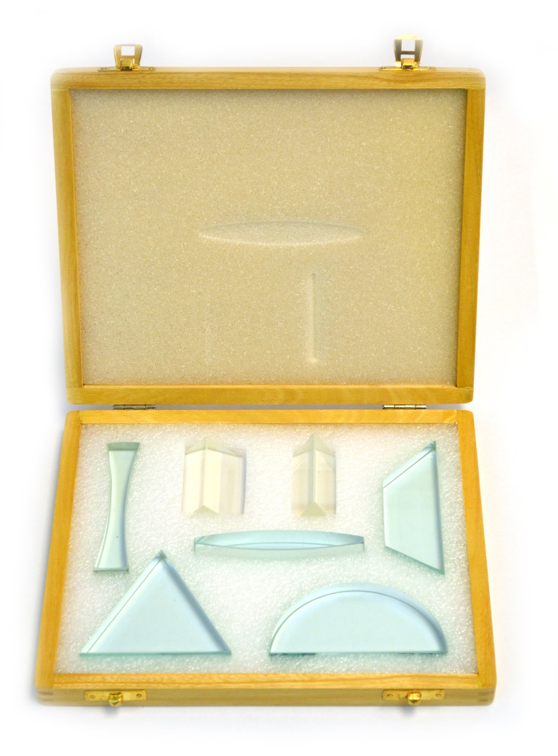 """Eisco 7 Piece Glass Prism Set: 0.5"""" (approximately 13mm) thickness"""