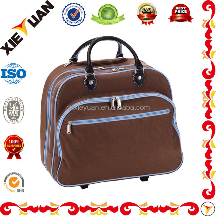 Lightweight Waterproof Rolling Tote Bag Trolley Luggage Suitcase