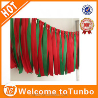 Christmas Decoration Christmas colorful ribbon wall for ceremony Party
