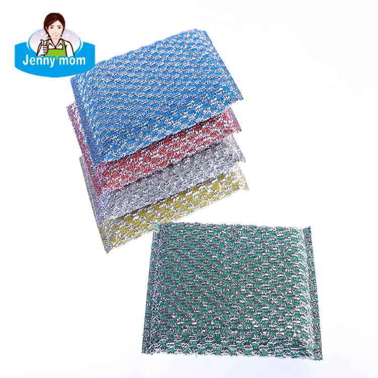 2018 OEM Size Non-scratch Scouring Pad,Colorful Polyester Dish Washing Scouring Pad Sponge
