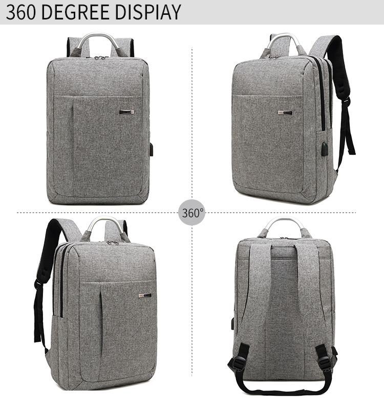 new fashion customized  logo backpack unisex  nylon waterproof laptop backpack with charger