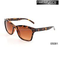 Leopard printed custom logo uv400 polarized sunglasses women