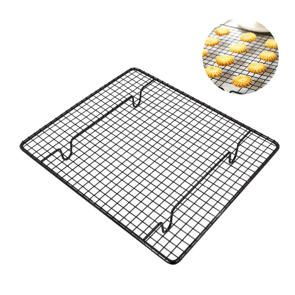 Pawaca Stainless Steel Cake Cooling Rack, Carbon Steel Non-Stick Coating Metal Wire Grid Shelf, for Cake Bread Biscuits Cool Down