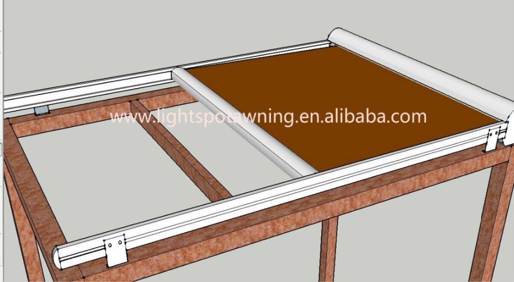 Aluminum Retractable Pergola Awning Folding Cheap Waterproof Pergola Awning Outdoor Large