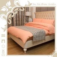 Luxury 100% polyester brushed embroidered design hotel bed sheet sets