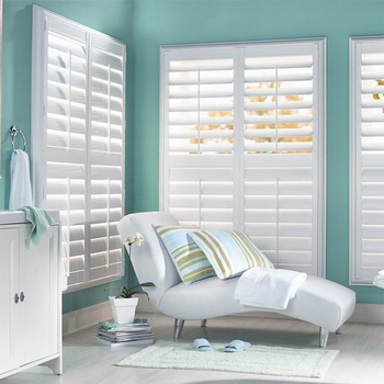 Factory Standard PVC Window Plantation Shutters / Blinds directly from China