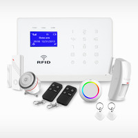 Focus New WiFi/GSM/3G/GPRS Smart Home Alarm System Kit with free door magnetic contact and pir movement motion sensor