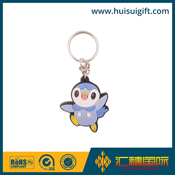high quality wholesale custom soft rubber keychains silicone keyring