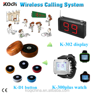 high quality wrist watch water pager calling system catering equipment