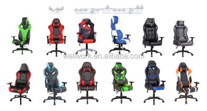 WORKWELL gaming arm chair with high density comfortable moulded foam KW-GKO8
