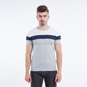Slim fit two colour striped long sleeve t-shirt