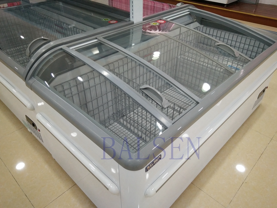 supermarket chest refrigerator,supermarket double island freezer