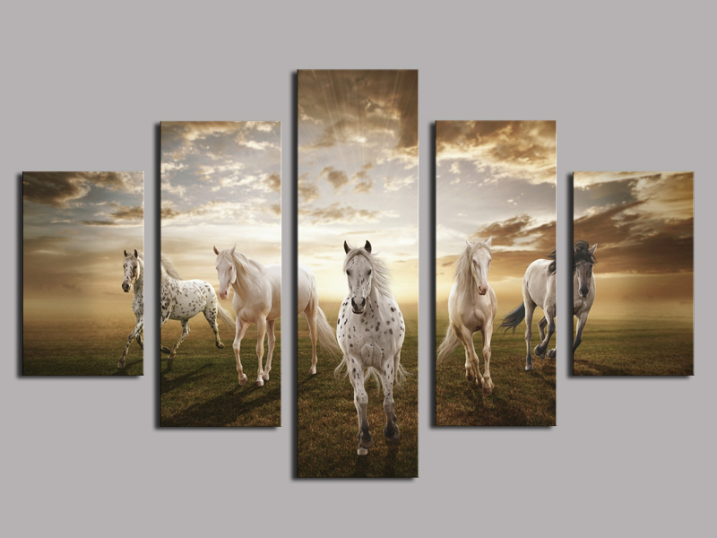 High Quality Cheap Price Art Pictures Running Horse Large HD Modern Home Wall Decor Abstract Canvas Print Oil Painting