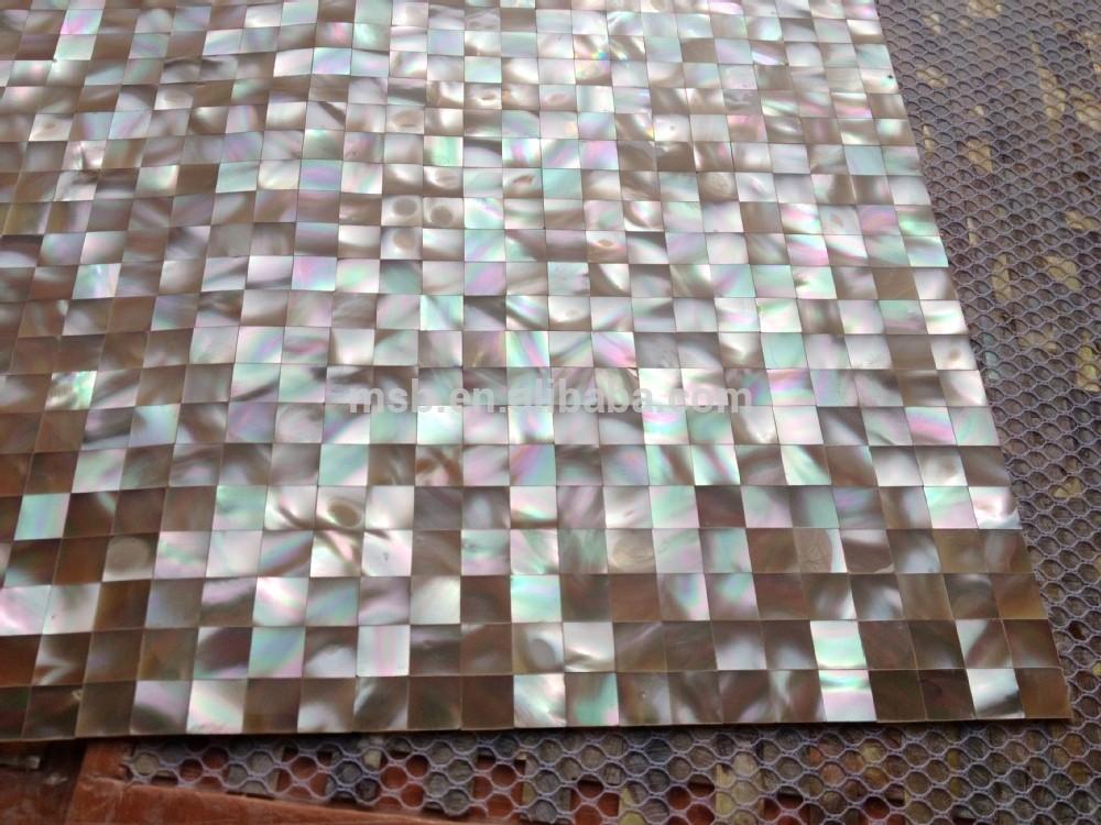 Piazza bagno piastrelle backsplash trochus madreperla shell mosaico