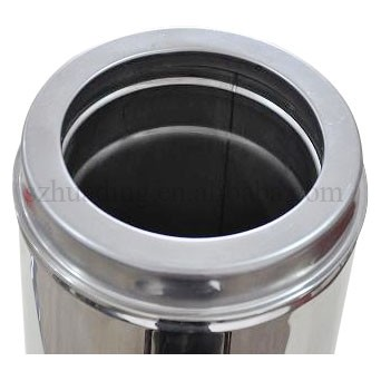 Ce Stainless Steel Double Wall Chimney Flue Pipe Stove