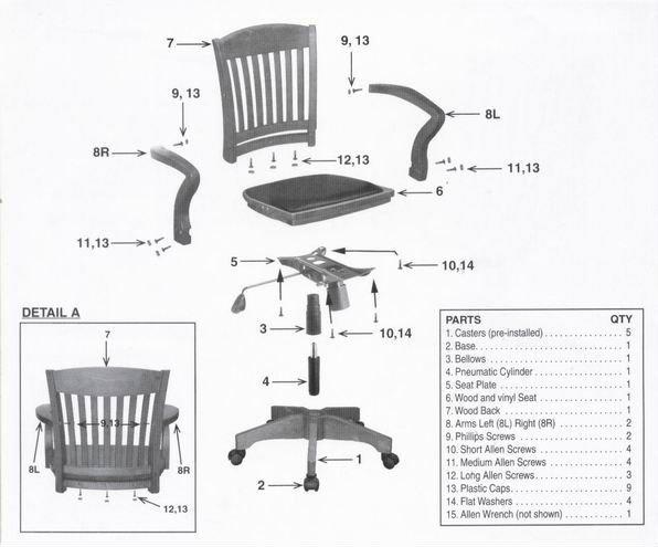 Luxury Wooden Executive Office Chair Swivel Wheel Base 108fw 1