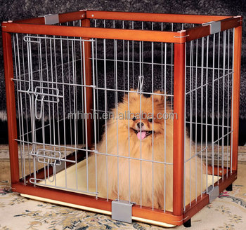 Indoor Wooden Wood Dog Pet Cage Kennel Metal Fence Foldable Puppy ...