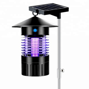 Solar rechargeable mosquito repellent device without radiation at home