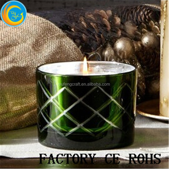 Pottery Barn Green Mercury Gl Scented Candle Pot