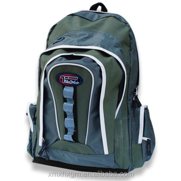 Multi-purpose back to school extra storage moss/olive backpack