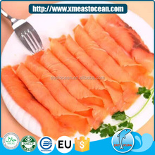 Fashion custom seafood frozen dried and salted wholesale smoked salmon