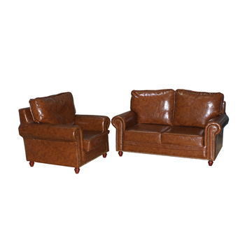 Lm Simple Sectional Yarn Dye Coffe Limitation Leather And Fabric Lounge Sofa