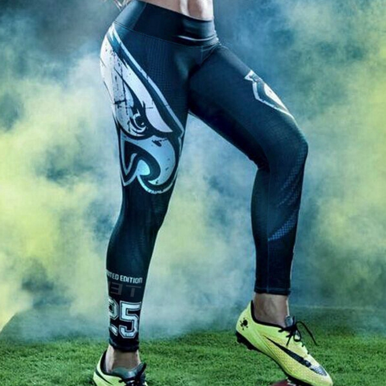 Women's 3D Printed Eagle Rugby Performance Active Fitting Sport Pant