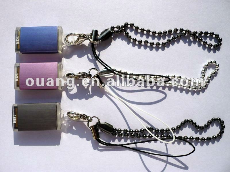 Promotional metal Portable lanyard Usb Drives Fancy Usb Drive