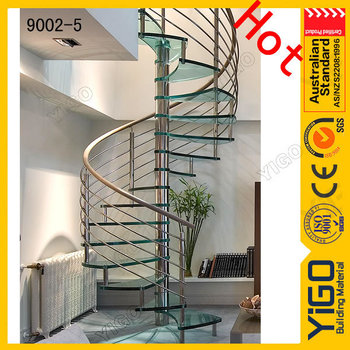 Stainless Steel Glass Spiral Staircase/good Price Spiral Staircase